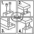 Кернеры (наколки) для мебельных шкантов, ПЕТРОГРАДЪ, D 6, 8, 10мм по 2 шт, фото 3