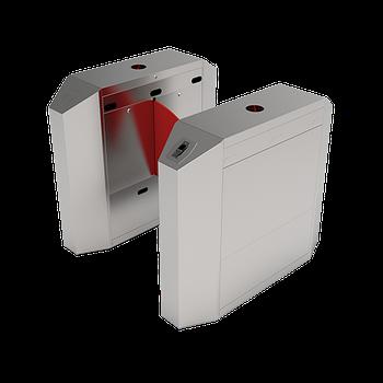 Турникет с выдвижными барьерами FBL2022 c контроллером и комбинированным биометрическим считывателем