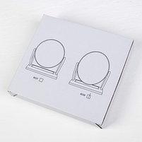 Зеркало настольное, двустороннее, зеркальная поверхность — 14 × 17 см, МИКС, фото 2