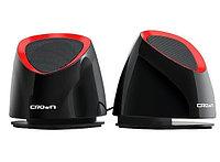 Акустические колонки Crown CMS-278 USB, черно-красные