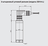 Преобразователь плотности газа GD10-L: с угловым разъемом GD10-C: с кабельным вводом, фото 2