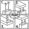 Кернеры (наколки) для мебельных шкантов, ПЕТРОГРАДЪ, D12мм, 6шт, фото 3