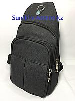 Мужская нагрудная сумка через плечо.Высота 30 см, ширина 16 см, глубина 5 см., фото 1