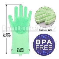 Универсальные силиконовые перчатки Magic Brush в продаже по 1 шт. на левую руку (зеленых оттенков)