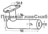 K242 держатель на плоскость, полированный, (aisi 304)