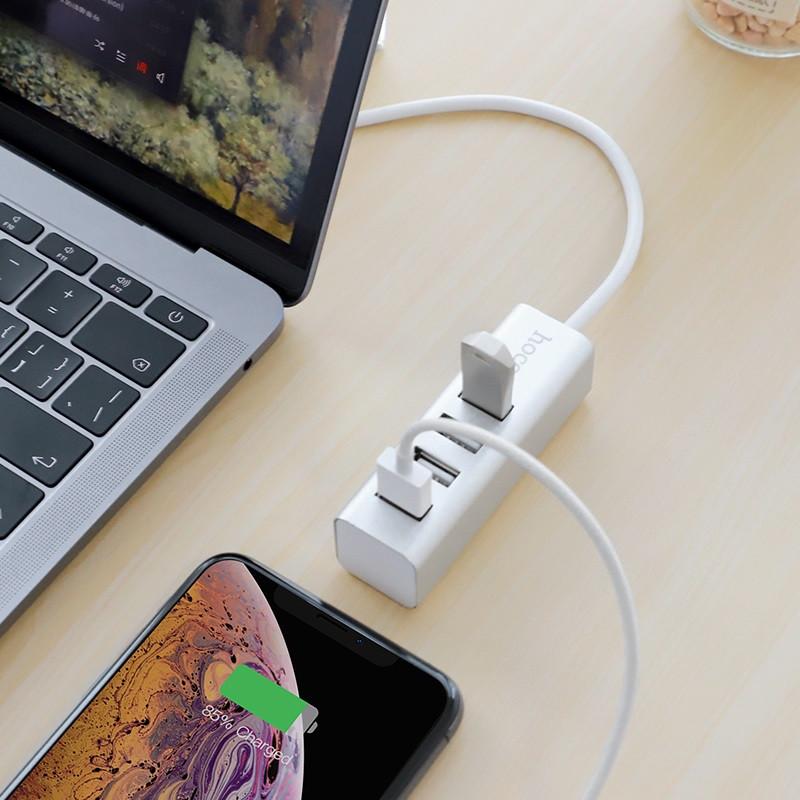 """Хаб Type-C """"HB1"""" Type-C на 4 USB 2.0 порта (Белый)"""