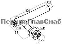 K214 спайдер для стекла 10 мм. 5+5 мм, шлифованный (aisi 304)