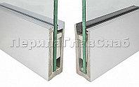 K601-2-12 Зажимной анодированный серебро профиль для стекла 12 мм и 6+6, с отверстиями