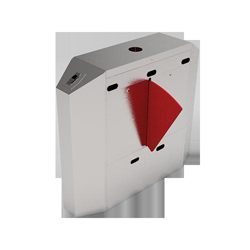 Турникет с выдвижными барьерами FBL2222 c контроллером и комбинированным биометрическим считывателем