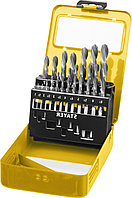 Набор сверл по металлу 19 шт (d=1-10 мм), HSS-R, сталь М2(S6-5-2), STAYER Professional 29602-H19, DIN 338, фото 1
