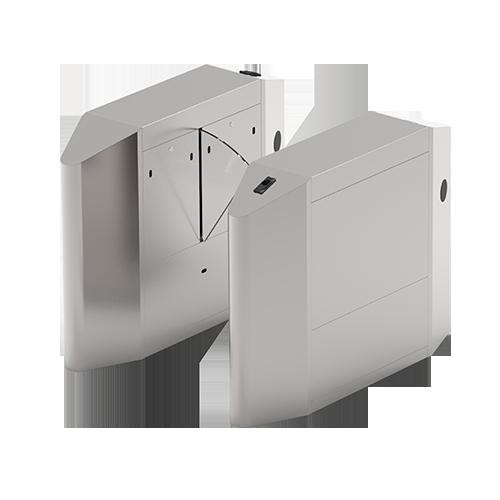 Турникет с выдвижными барьерами FBL4022 c контроллером и комбинированным биометрическим считывателем