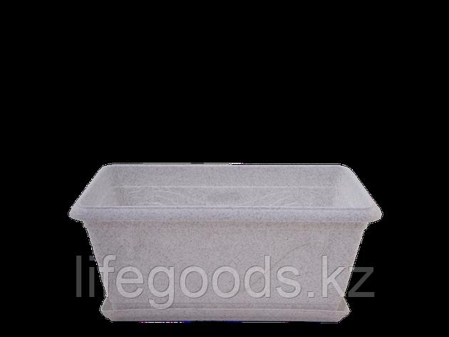 """Вазон """"Петуния"""" с подставкой балконный 50,0*26,9см. (белый флок) 101201290, фото 2"""