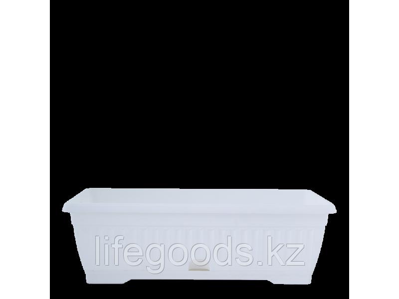 """Вазон """"Терра"""" с подставкой балконный  50*19см. (белый)"""