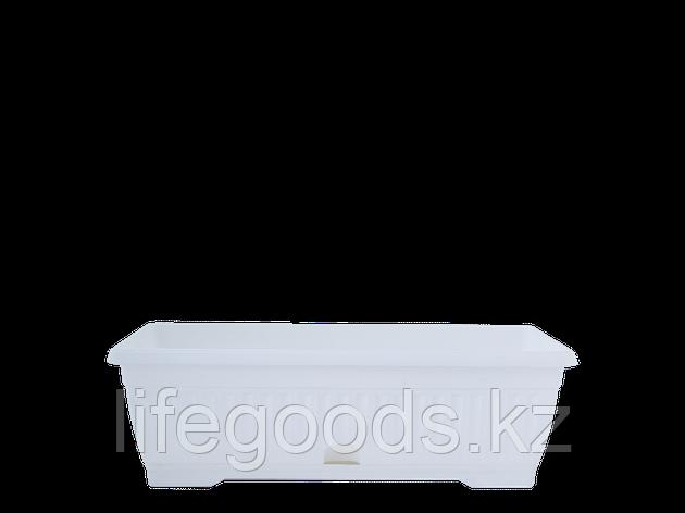 """Вазон """"Терра"""" с подставкой балконный  50*19см. (белый), фото 2"""