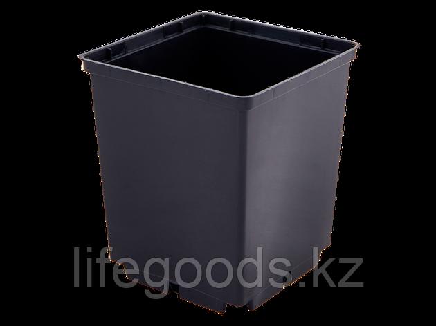 Вазон для рассады квадратный  9,0*10,0см. (чёрный), фото 2
