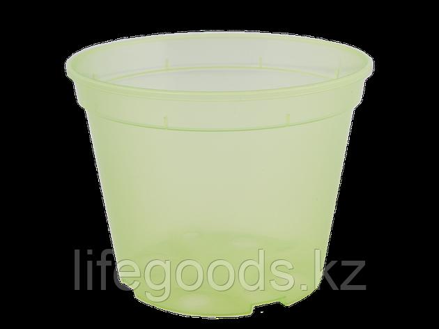 Вазон дренажный 12,0* 9,0см. (салатово-прозрачный), фото 2