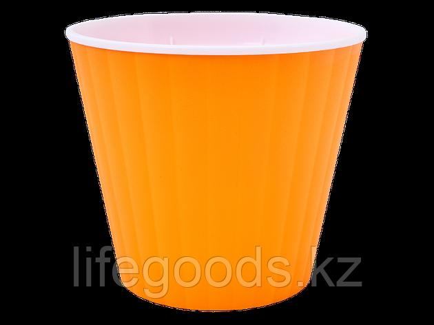"""Вазон """"Ибис"""" двойной 13,0*11,2см. (св.оранж./белый) 141100048, фото 2"""