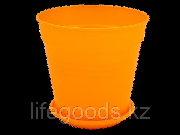 "Вазон ""Глория"" с подставкой 11*10,2см. (оранжевый), фото 2"