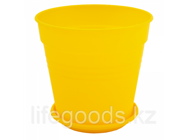 "Вазон ""Глория"" с подставкой 11*10,2см. (т.жёлтый), фото 2"