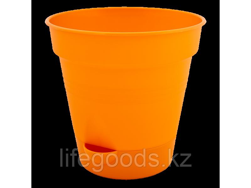 """Вазон """"Глория"""" с поливом 12см. (оранжевый) 131012031"""