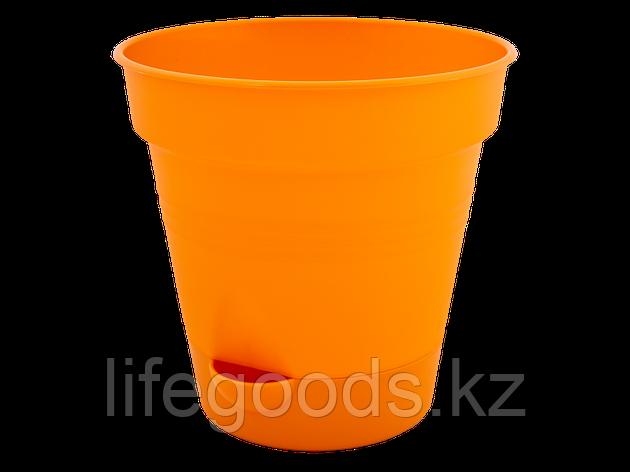 "Вазон ""Глория"" с поливом 12см. (оранжевый) 131012031, фото 2"