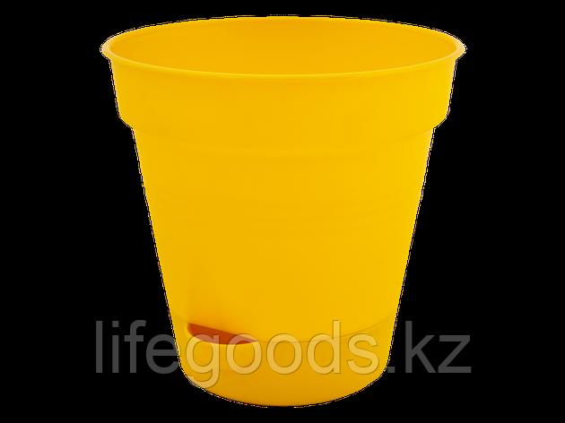 "Вазон ""Глория"" с поливом 12см. (т.жёлтый), фото 2"