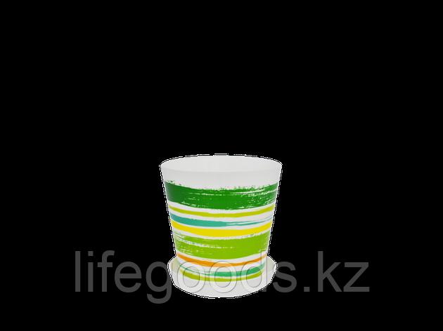 """Вазон """"Деко"""" с подставкой с декором 13*12,5см. (Краски: зел.) 160702009, фото 2"""
