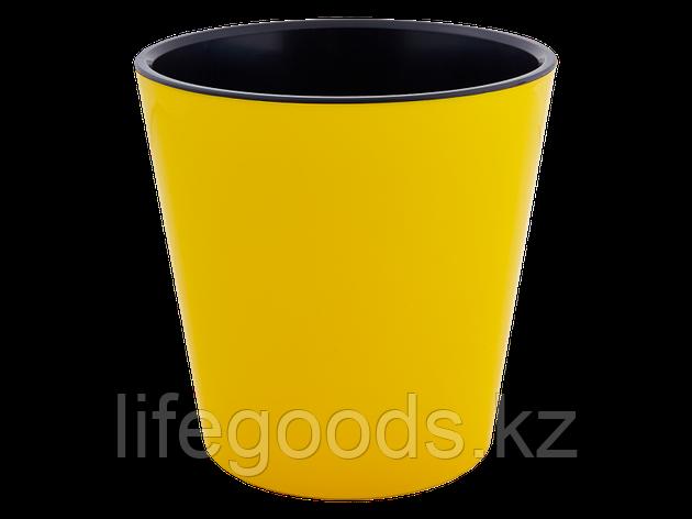 """Вазон """"Деко"""" со вставкой 13*12,5см. (т.жёлтый/чёрный) 161019065, фото 2"""