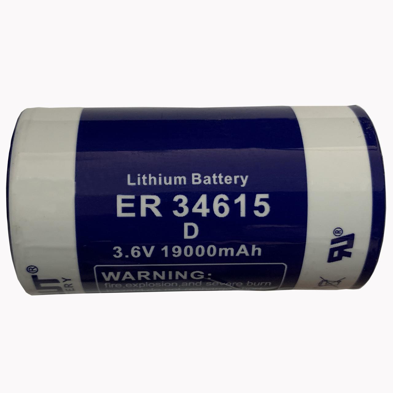 Литиевая батарейка EWT34615  3,6V D 19000mAh