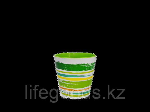 "Вазон ""Деко"" со вставкой с декором 13*12,5см. (Краски: зел.), фото 2"