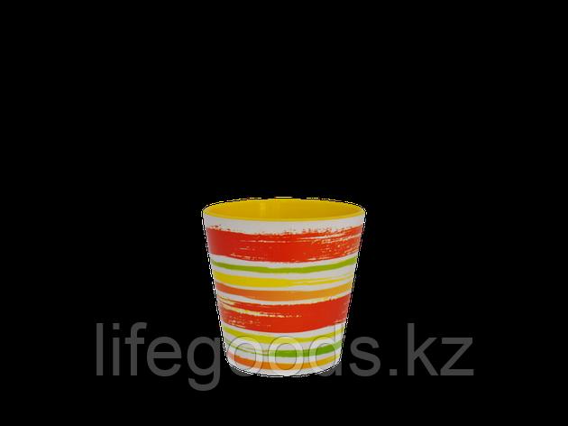"Вазон ""Деко"" со вставкой с декором 13*12,5см. (Краски: оранжевый), фото 2"