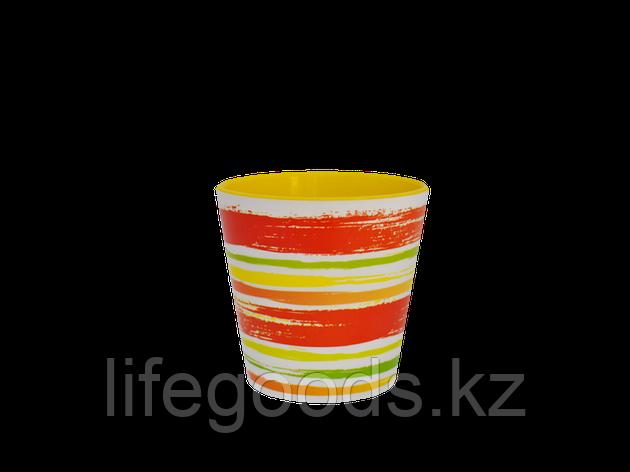 "Вазон ""Деко"" со вставкой с декором 16*15,5см. (Краски: оранжевый), фото 2"
