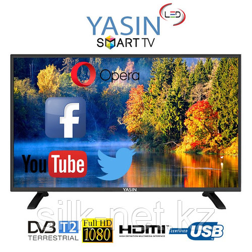 Телевизор YASIN диагональ 32 Е 5000 Серая окантовка, Китай