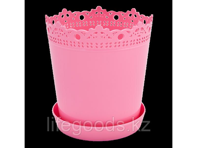 """Вазон """"Ришелье"""" с подставкой 17см. (розовый) 160317027"""