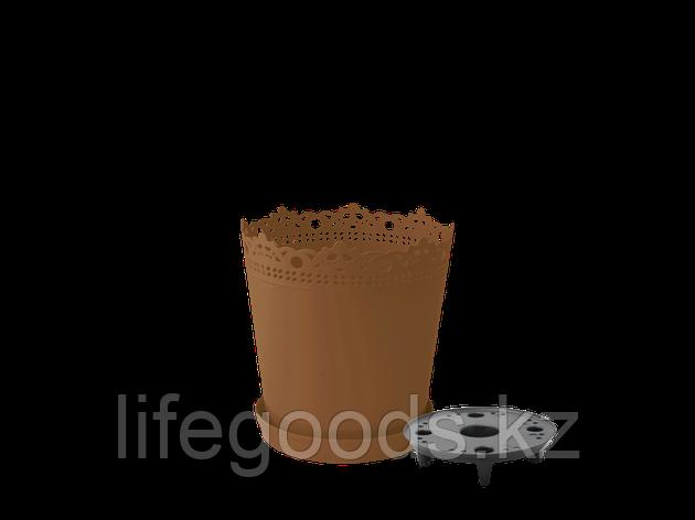 """Вазон """"Ришелье"""" с дренажной подставкой 13см. (бронзовый), фото 2"""