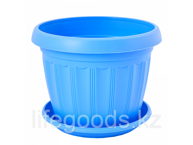 """Вазон """"Терра"""" с подставкой  8* 6,5см. (голубой), фото 2"""