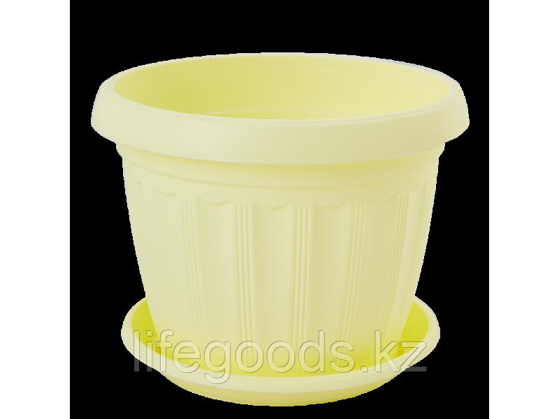 """Вазон """"Терра"""" с подставкой  8* 6,5см. (жёлтый) 150400025"""