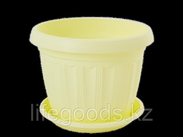 """Вазон """"Терра"""" с подставкой  8* 6,5см. (жёлтый) 150400025, фото 2"""