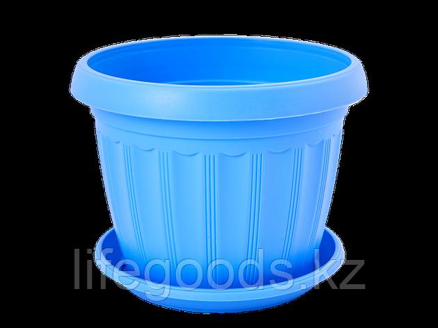 """Вазон """"Терра"""" с подставкой 10* 8см. (голубой), фото 2"""