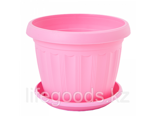 "Вазон ""Терра"" с подставкой 10* 8см. (розовый), фото 2"