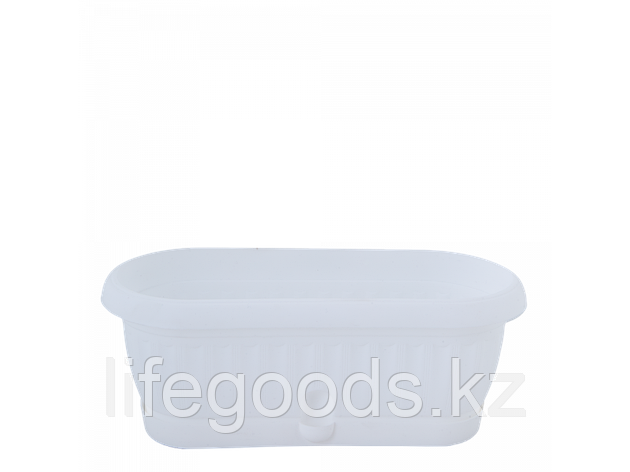 "Вазон ""Терра"" с подставкой кактус. 26,5*10,2см. (белый), фото 2"