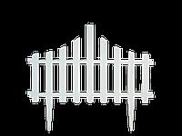 """Набор Ограждение для газона """"Заборчик"""" (белый флок) 101201338"""