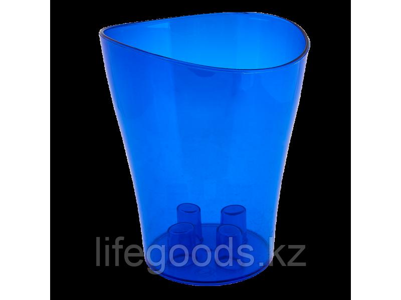 "Вазон ""Ника"" для орхидей 13*15,5см. (синий прозрачный) 150400061"