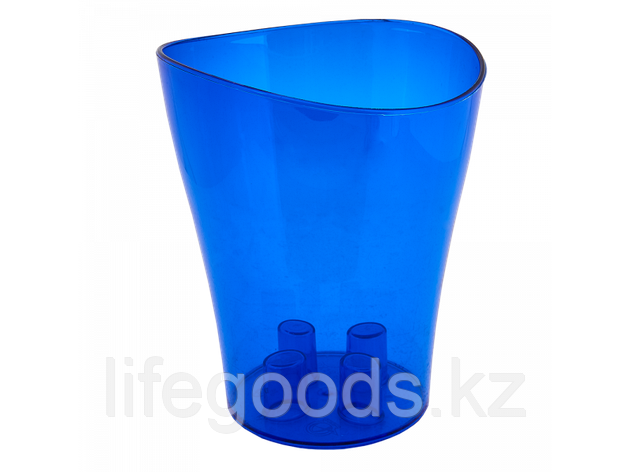 "Вазон ""Ника"" для орхидей 13*15,5см. (синий прозрачный) 150400061, фото 2"