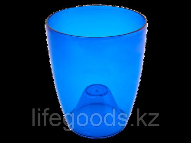 """Вазон """"Орхидея"""" 15*17см. (синий прозрачный) 120407035, фото 2"""