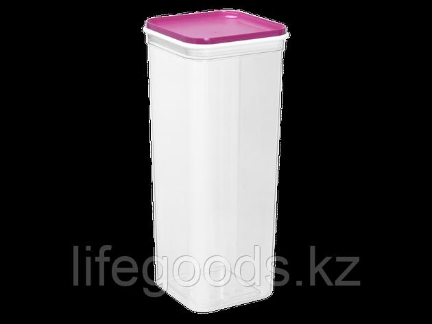 """Емкость для сыпучих продуктов """"Фикс"""" 2,25л. (прозрачный/т.розовая) 180709021, фото 2"""