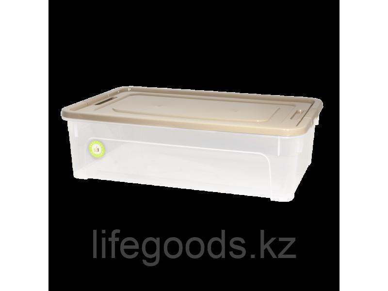 "Контейнер ""Smart Box"" 14л. ""Practice"" (прозрачный/какао/какао) 190114030"