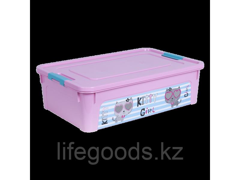 """Контейнер """"Smart Box"""" с декором Pet Shop 14л. (розовый/розовый/бирюзовый) 170110013"""