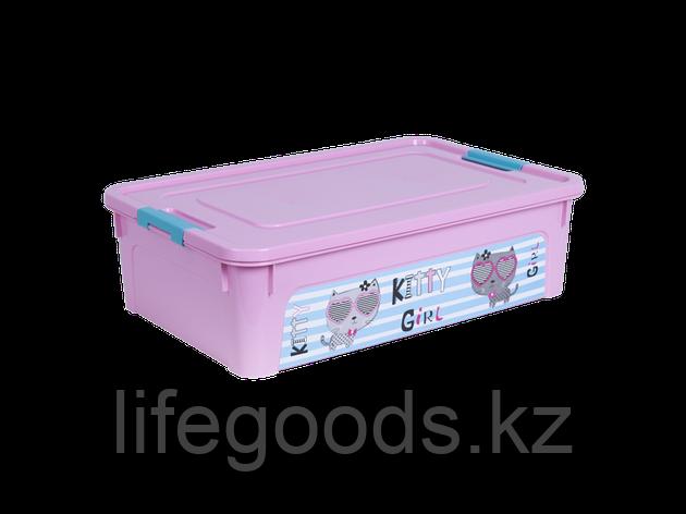 """Контейнер """"Smart Box"""" с декором Pet Shop 14л. (розовый/розовый/бирюзовый) 170110013, фото 2"""