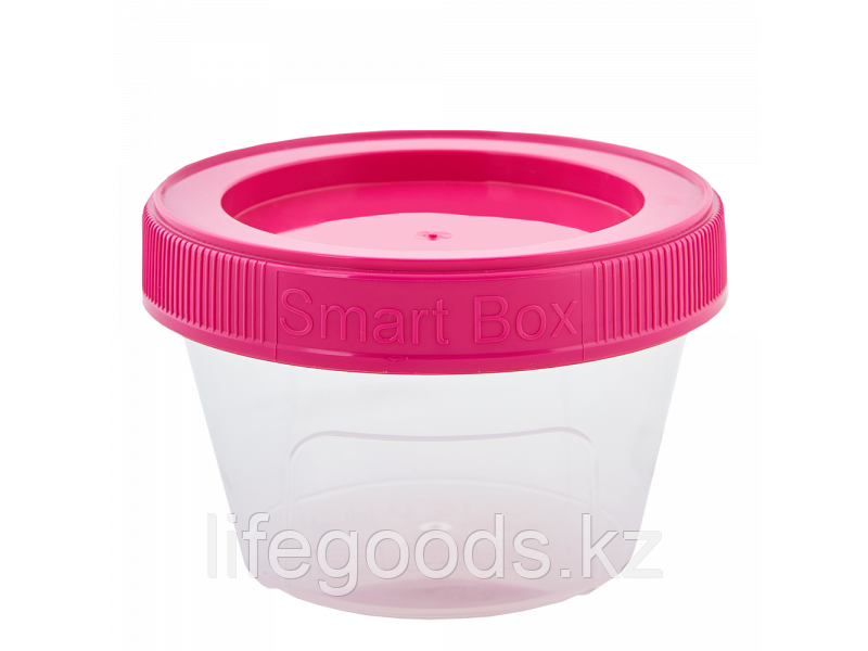 """Контейнер """"Smart Box"""" круглый 0,20л. (прозрачный/т.розовый) 171215030"""